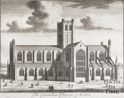 Engraving The Cathedral Church of Bath 1713