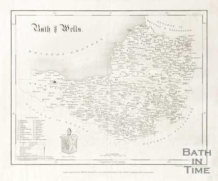 Map of Bishopric of Bath and Wells