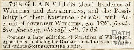 7698 Glanvil's Evidence of Witchcraft and Apparitions and the Possibility of their Existence