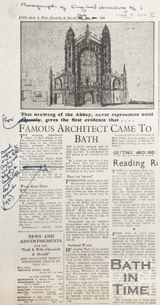 Famous Architect Came to Bath 26th January 1952