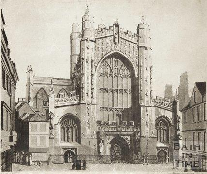 Engraving Bath Abbey 1793
