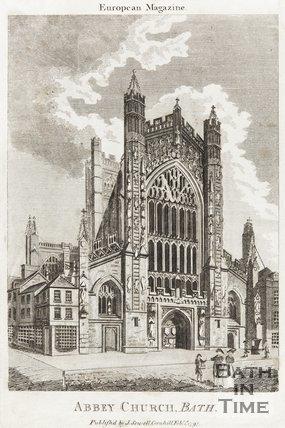 Engraving Abbey Church Bath February 1797
