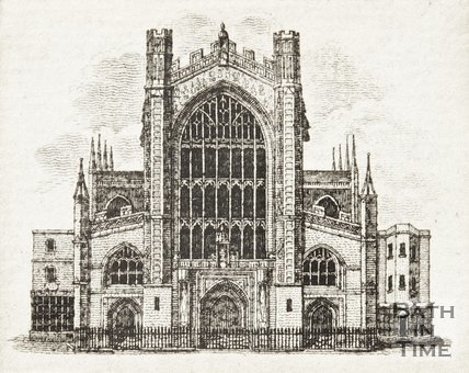 Engraving Bath Abbey 1812?