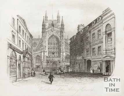 West Front of the Abbey Church Bath 1844