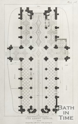 The Abbey Church Bath, Ground Plan with forms of the groining &c