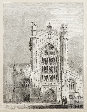Engraving Bath Abbey 1843