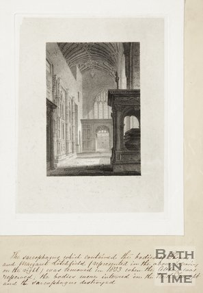 Engraving Bath Abbey Interior, 1814