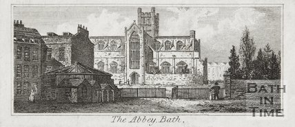 Engraving The Abbey Bath 1824