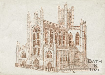 Engraving Bath Abbey 1825