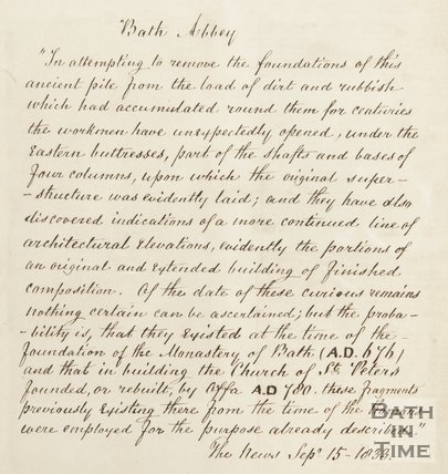 Note from Hunt on Abbey foundations or forebears