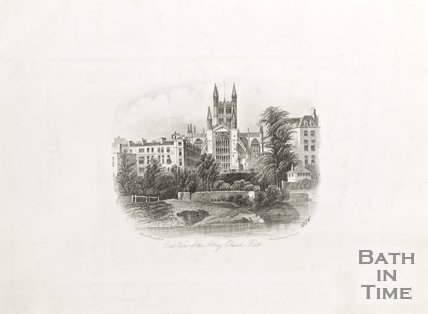 East View of The Abbey Church Bath 1855