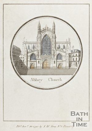 Engraving Abbey Church January 26th 1793