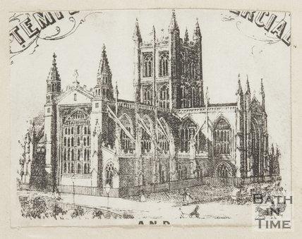 Engraving Bath Abbey