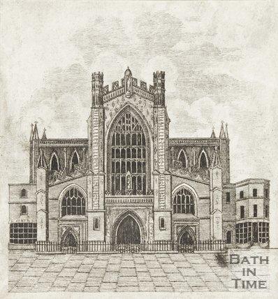 Engraving Bath Abbey 1812