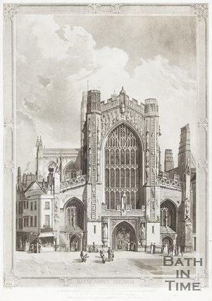 Engraving Bath Abbey Church March 1st 1822