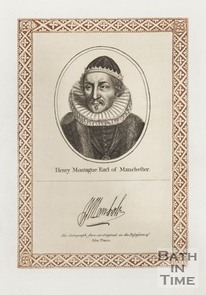 Engraving and Autograph of Henry Montague Earl of Manchester