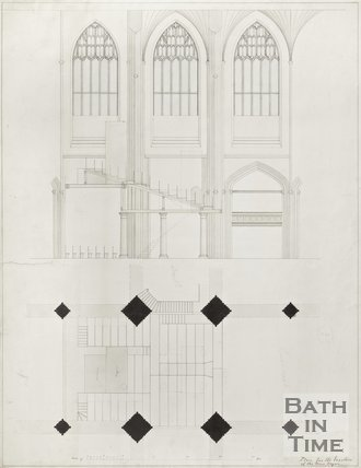 Plan for Erection of New Organ for Bath Abbey