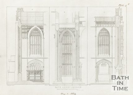 Architectural Elevations Bath Abbey Church August 1st 1824