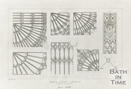 Bath Abbey Church details of Groining January 1825