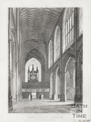 Bath Abbey Church View of the Nave looking East January 11th 1825