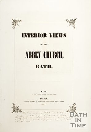 Title Page of Interior Views of the Abbey Church Bath 1845