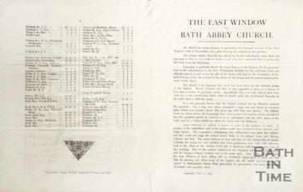 The East Window of Bath Abbey Church November 1st 1873