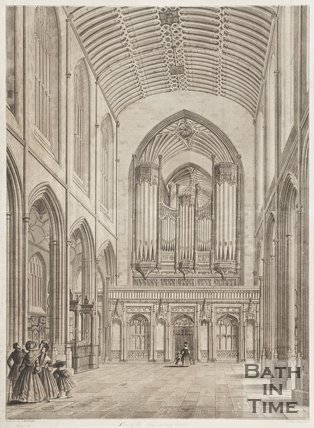 Engraving View of the Nave looking East 1836