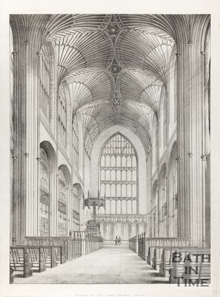 Interior of Abbey Church Bath 1840