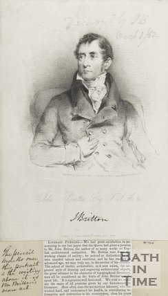 Portrait of John Britton Esq. F.S.A October 1st 1828