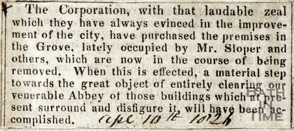 Purchase of Premise in the Grove for Corporation April 10th 1826