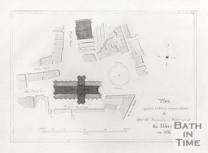 Plan of High Street, Orange Grove After removal of the Houses around the Abbey in 1834