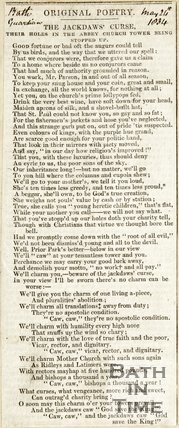Original Poetry. The Jackdaws Course, May 24th 1834