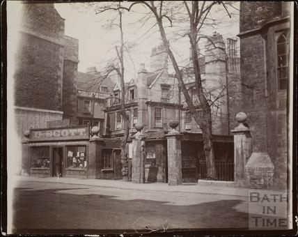 Hetling Court entrance from Westgate Buildings, Bath c1895-1902