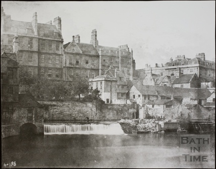 Weir South of Pulteney Bridge, Bath c.1853-1861