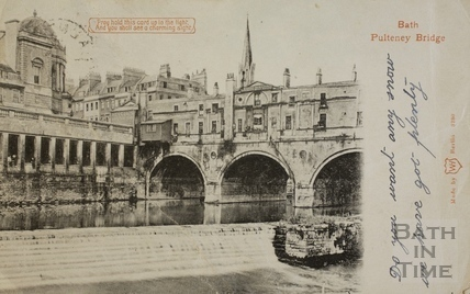 Pulteney Bridge, Bath c.1905