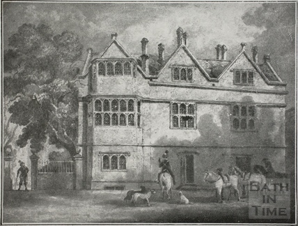 Small copy of painting of Abbey Church house, Bath