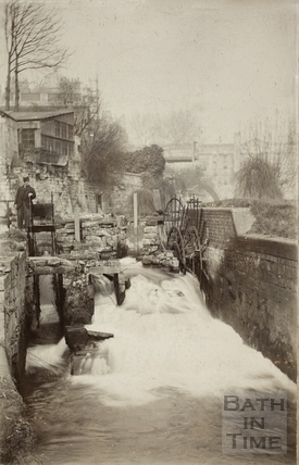 The remains of the Town Mill leat, Bath c.1880