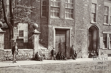 Abbey Church House, 24 & 25, Westgate Buildings, Bath c.1885 - detail