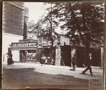Hetling Court, entrance from Westgate Buildings, Bath c1895-1902