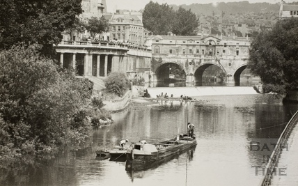 River Avon near Pulteney Bridge, Bath c.1920