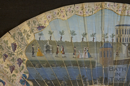 Fan view of Harrison's Walk, Bath c.1749 - detail