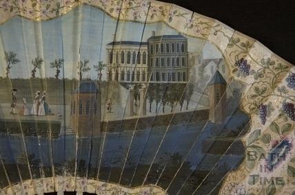 Fan view of Harrison's Walk, Bath c.1749 - detail