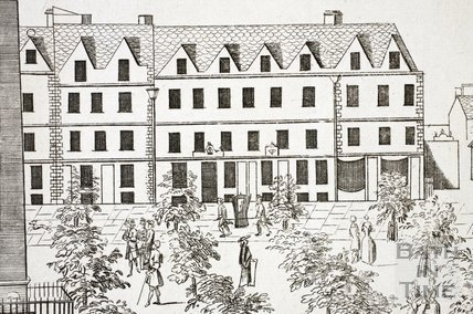 Fan view of Orange Grove, Bath 1737 - detail