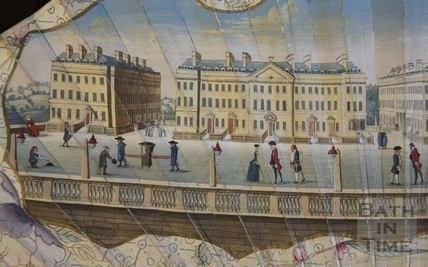 Fan view of North Parade, Bath 1749 - detail
