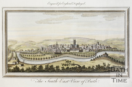The South East View of Bath 1769 - tinted