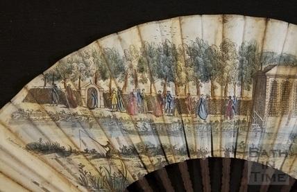 Fan view of Harrison's Walk, Bath c.1737 - detail