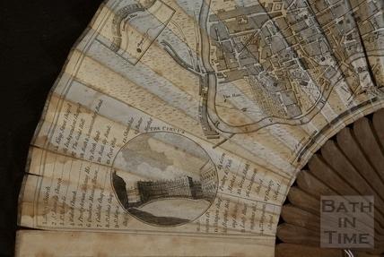 Fan view of a Plan of Bath 1793 - detail