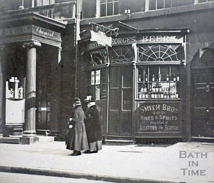 Argyle Wine Vaults, 9, Argyle Street, Bath c.1900