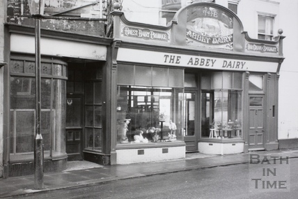 The Abbey Dairy, 1, Lower Borough Walls, Bath 1966