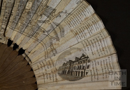 Fan view of a Plan of Bath 1793 - detail